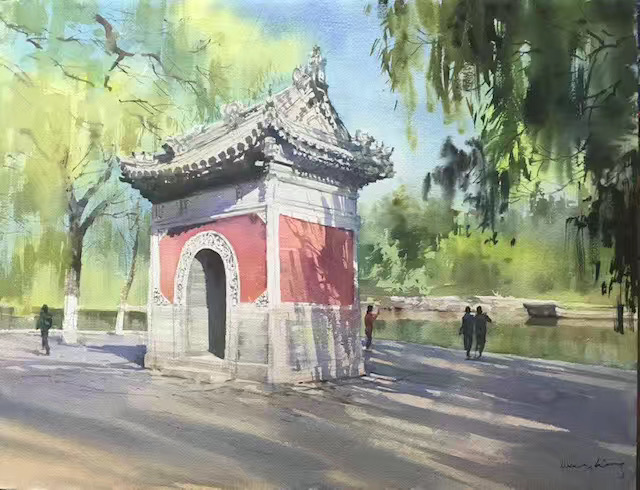 Peking University(flower godess temple).
