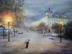 A Snowy Evening, Minsk, Belarus