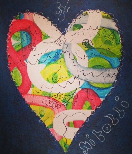 Instagram - White heart_edited. 60x70, acrilic on canvas