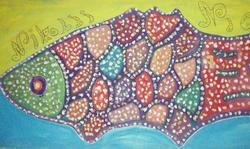Instagram - Big fish, acrylic on canvas, 100x200_edited