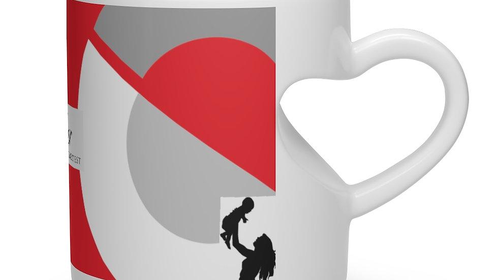 A Mother`s Heart Shape Mug