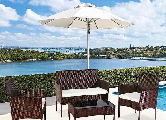 4 Pcs Outdoor Rattan Chair Wicker Sofa Garden Bistro Sets