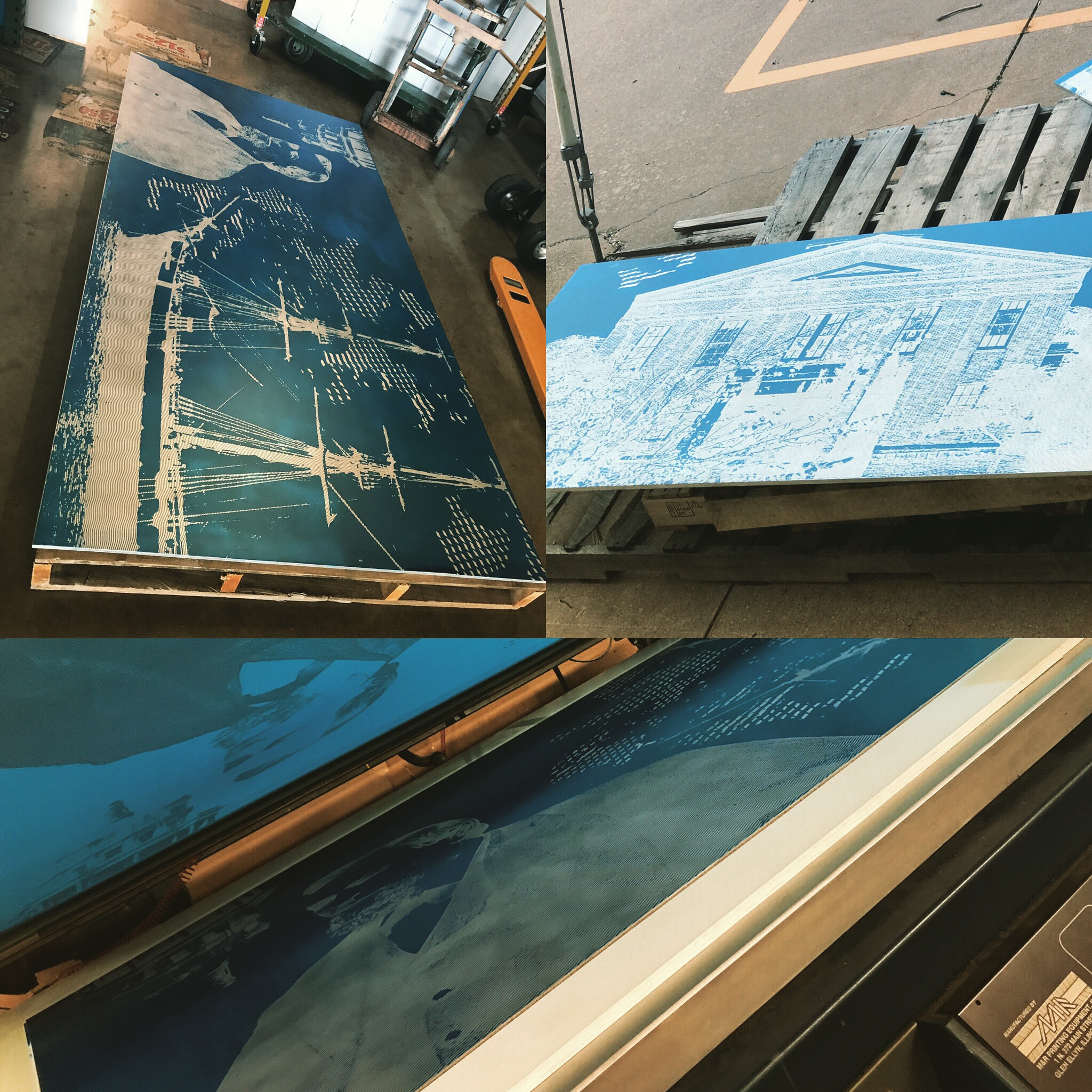 Aluminum Plate Screen Print