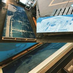 Aluminum Plate Screen Print