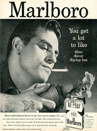 Malboro advert: Old-style advertising, laboriously arguing the product benefits. Marketers have to target the subconscious