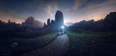 Looking the sky / cinque torri Dolomites