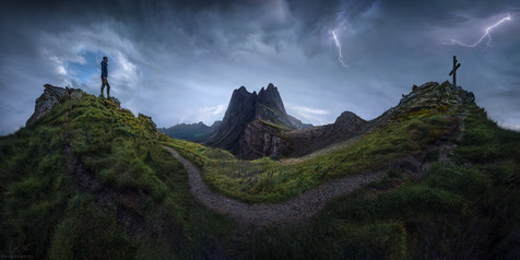 Thunderstorm on the Dolomites