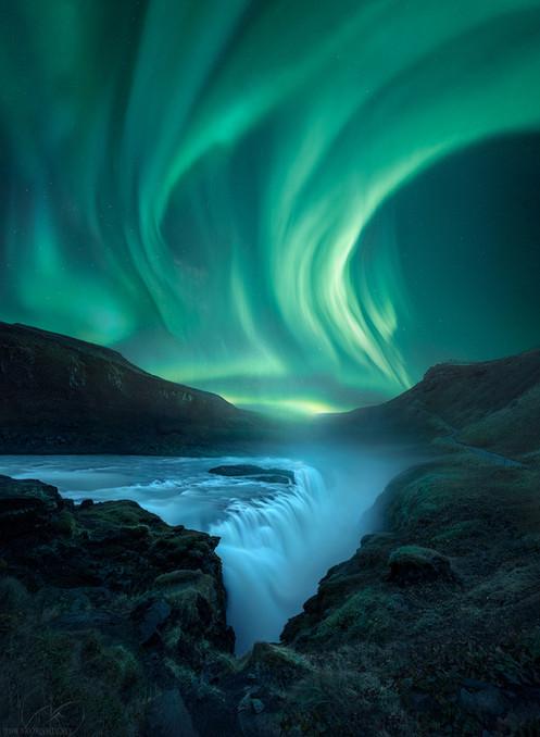 Green Oblivion Gullfoss Iceland