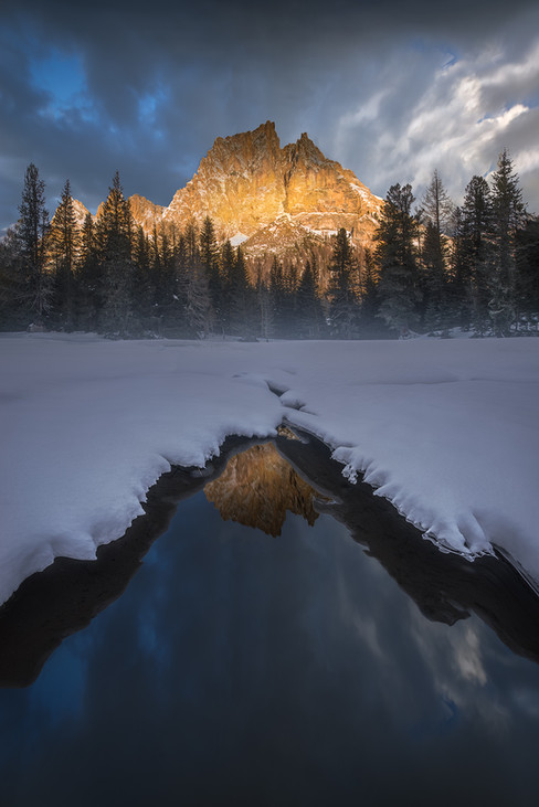 Gold and ice  /  Dolomites