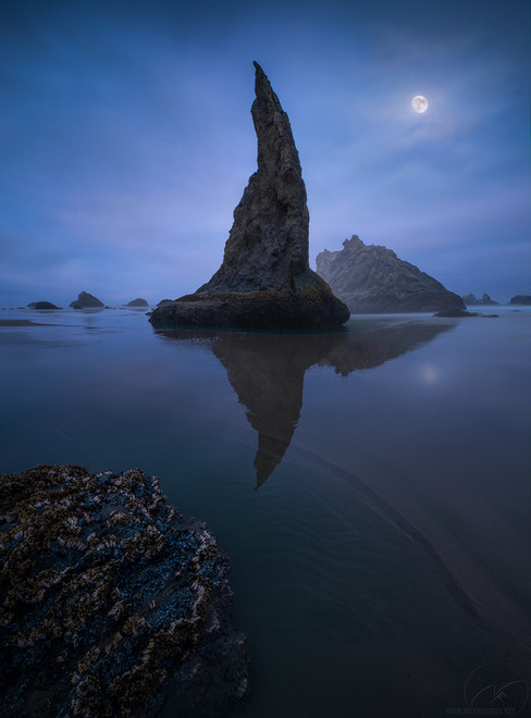 Moon shine  / Bandon beach / Oregon