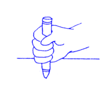 What is pencil grasp development?