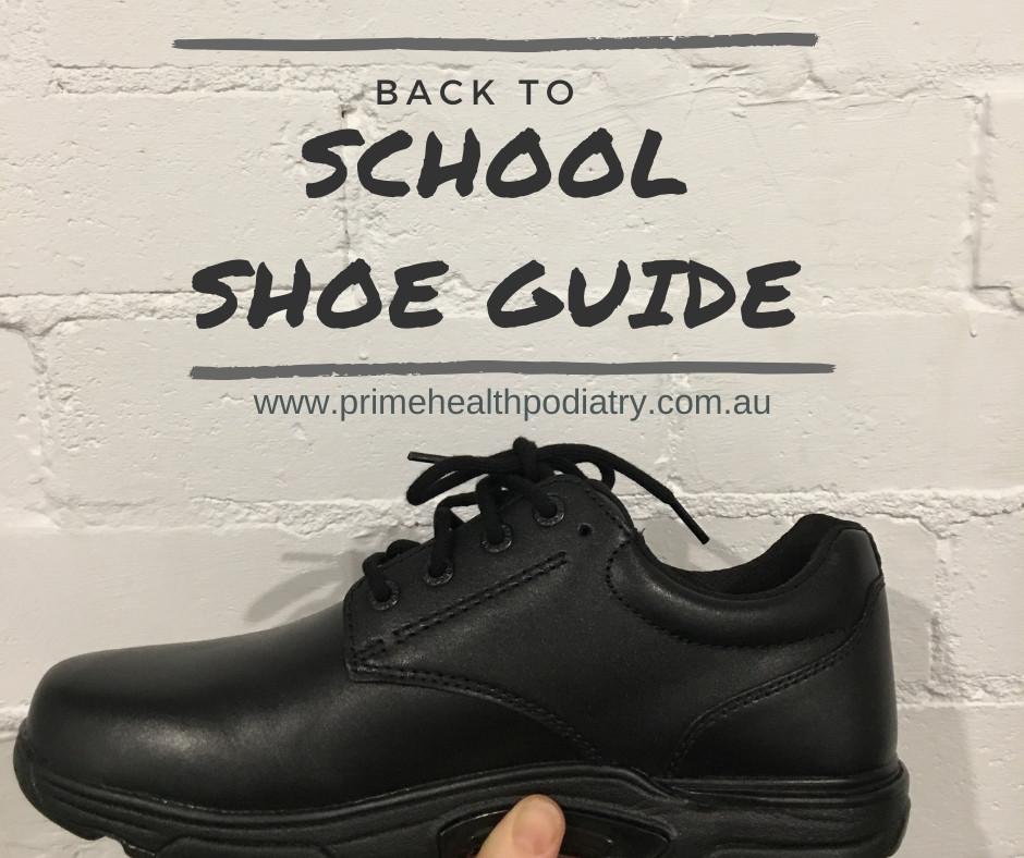 Black leather lace up school shoe