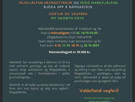 Vöxtur og Vegferð - My Growth Path, nýtt námskeið