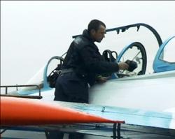 Filming off Russian jet