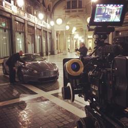 Filming Aston Martin