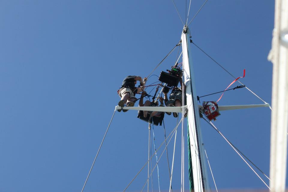 Filming at height at sea