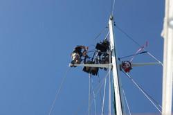 Filming at height at sea