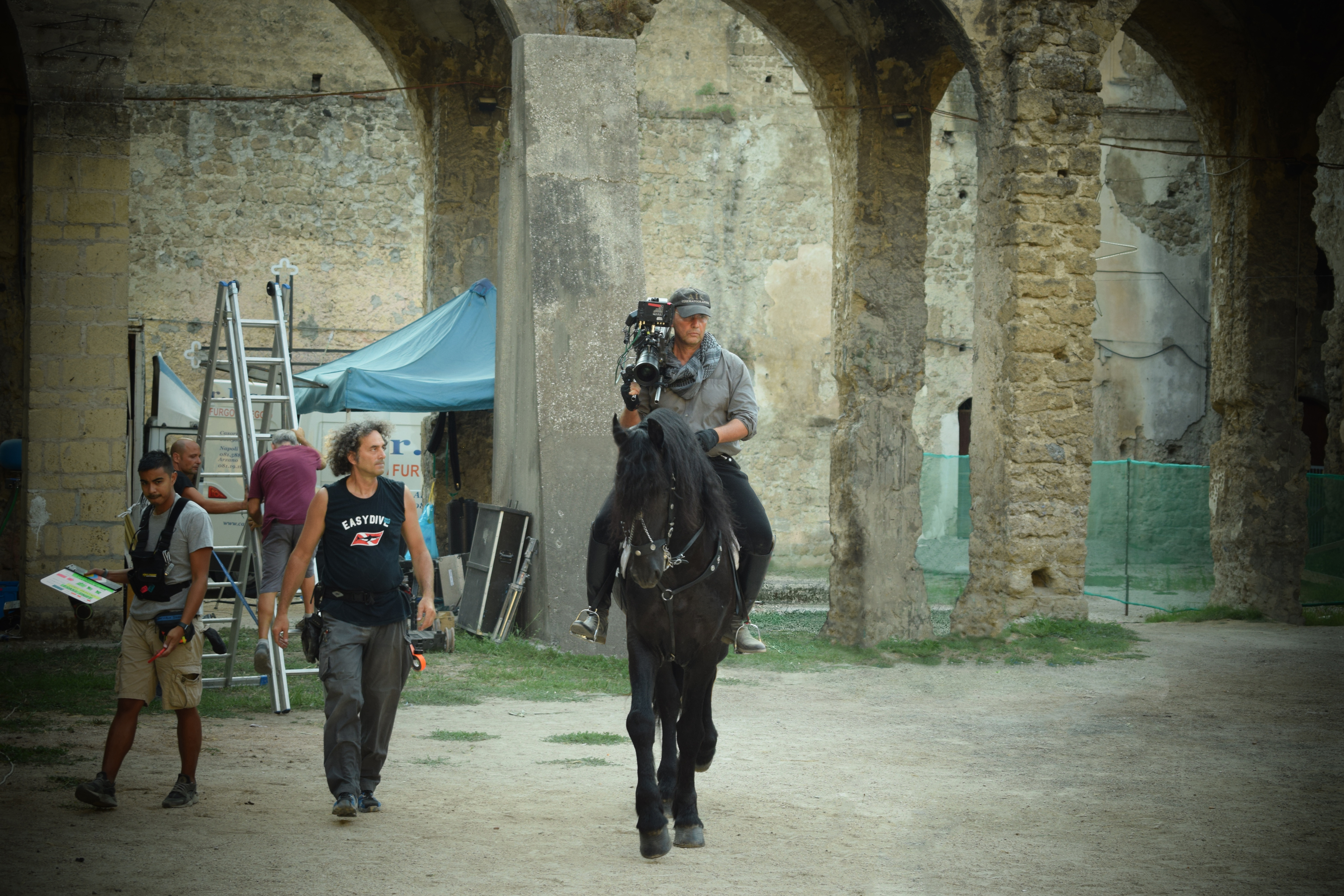 FP filming off horse