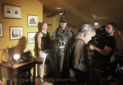 filming with screen legend Giancarlo