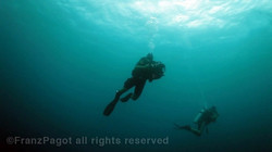 Underwater filming in the Pacific