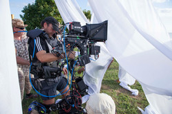 Operating steadicam with 3D Atom rig