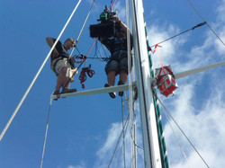 Filming 3D high up the mast at sea