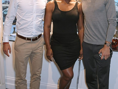 Serena Williams, Novak Djokovic and Grigor Dimitrov Attend the Launch of Brendan Murphy's Exhibi