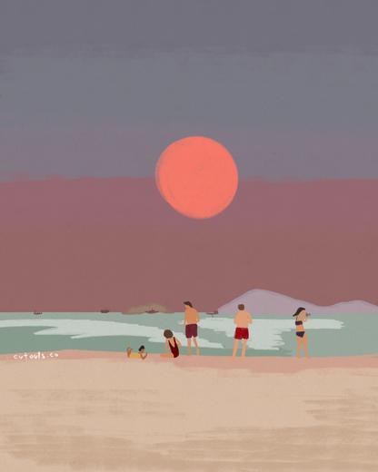 beach at dusk 2
