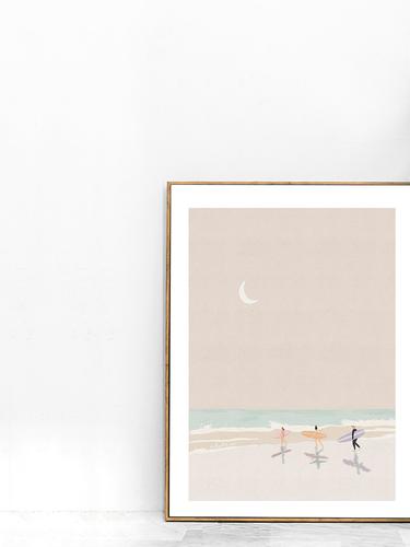 surfers in moonlight framed.png