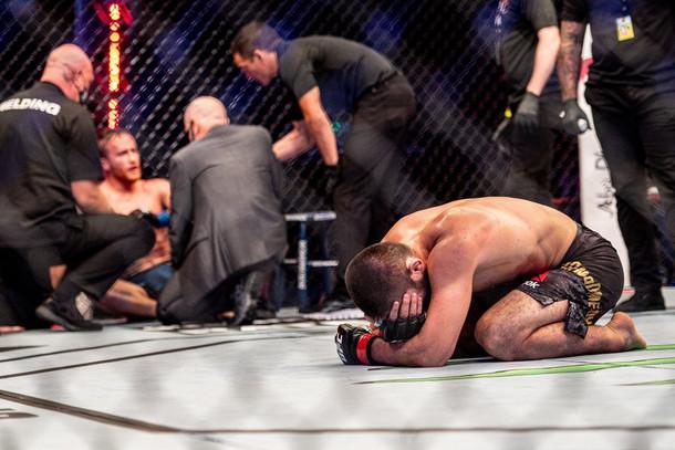 Emotions run at UFC 254 as Khabib Nurmagomedov retires as Lightweight king