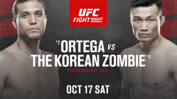 Ortega and The Korean Zombie Headline Fight Night