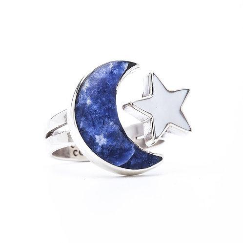 Anillo Luna y Estrella
