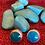 Thumbnail: Pendientes protection  turquesa