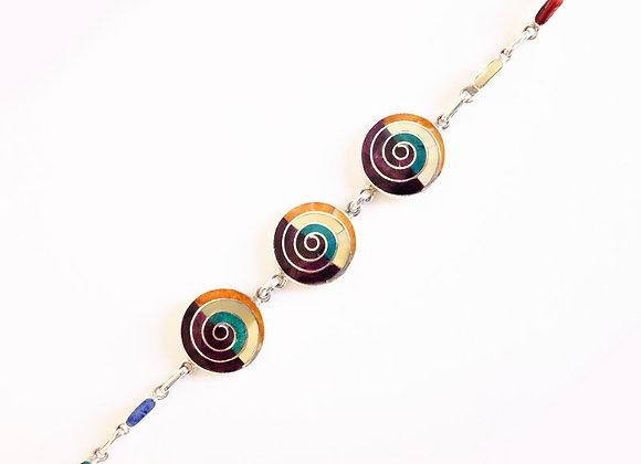 Pulsera Espiral Multicolor