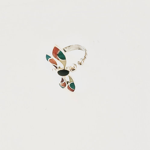 Anillo libélula en degrade