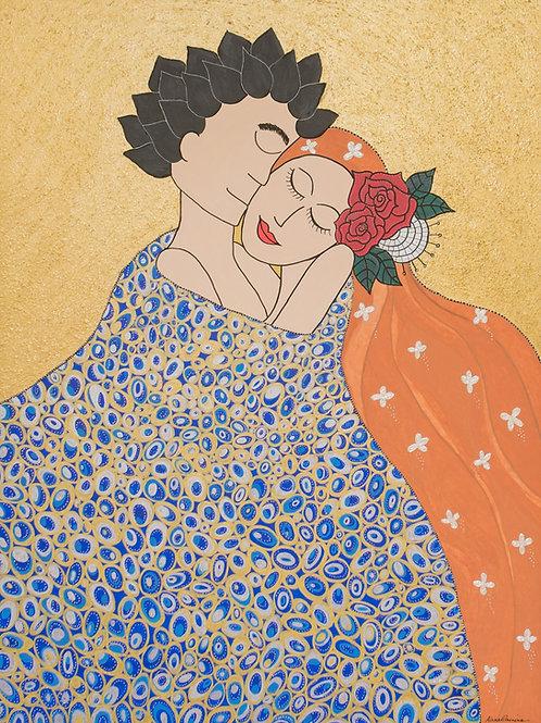Amor meu grande amor - 120 x 90 cm - por Aline Carneiro