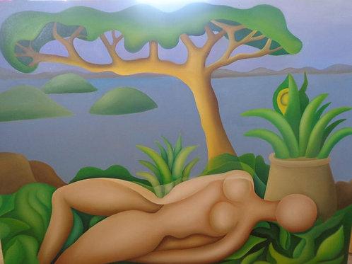 Mulher Deitada - 120 x 90 cm - por Célio Seixas