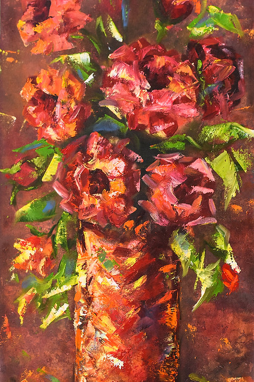 Red Flowers - 60 x 30 cm - por Junice Pereira