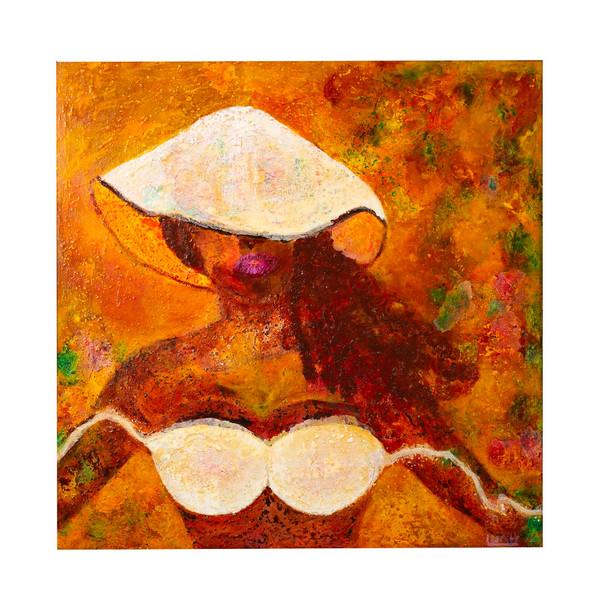 LuahJassi + Rosa Morena + 100 x100cm + A