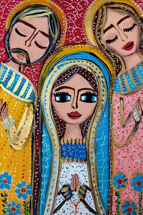 Fé em cores -75 x 48 cm - por Juliana Rabelo