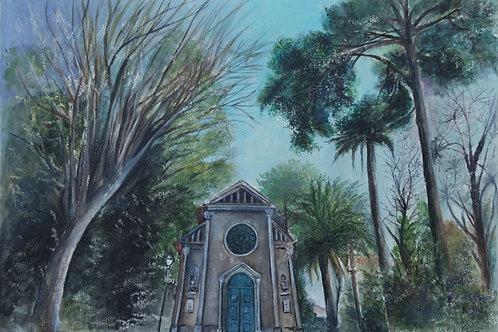 Jardins do Palácio de Cristal - 40 x 30 cm - por Ione Crusoé