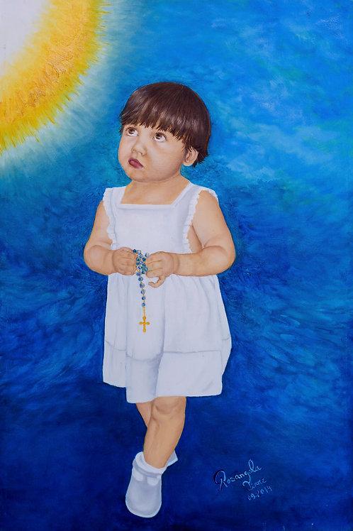 Bênção - 40 x 60 cm - por Rosangela Tirre
