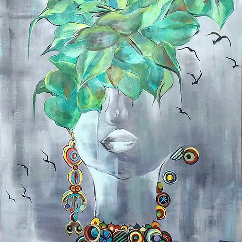 Liberta - 70 x 60 cm - por Chris Contreiras