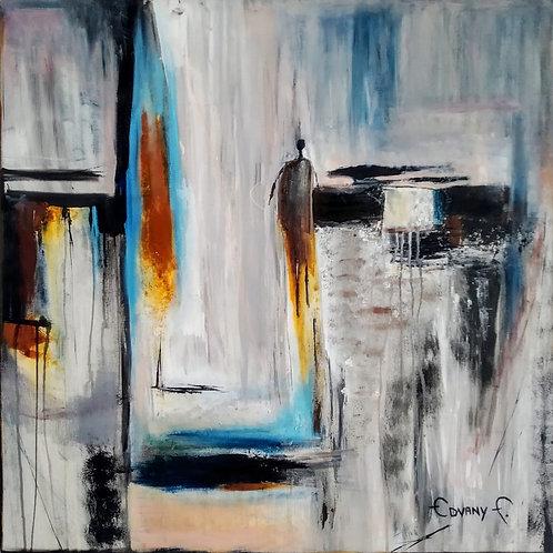 Olhares - 80 x 80 cm - por Edvany F.