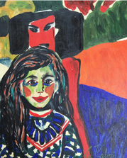 CIBELE PUGLIESI - RELEITURA DE Ernst Ludwig Kirchner - FRANZI - ACRICILICA SOBRE TELA - 0,70X0,50 - R$1.225,00.PNG