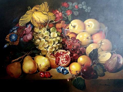 Frutas - 60 x 80 cm - por Cleusa Soares