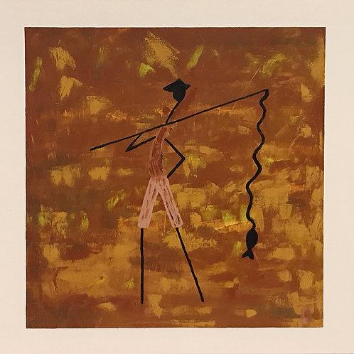 O Pescador - 50 x 50 cm - por Gleison Castro