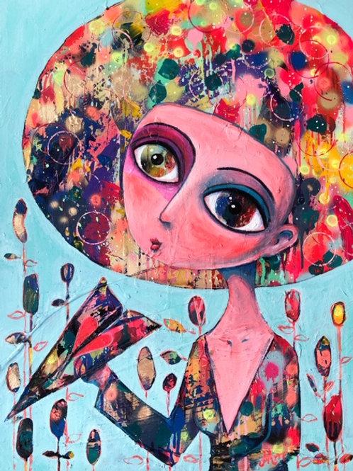 Ilove - 80 x 60 cm - por Maria Alm