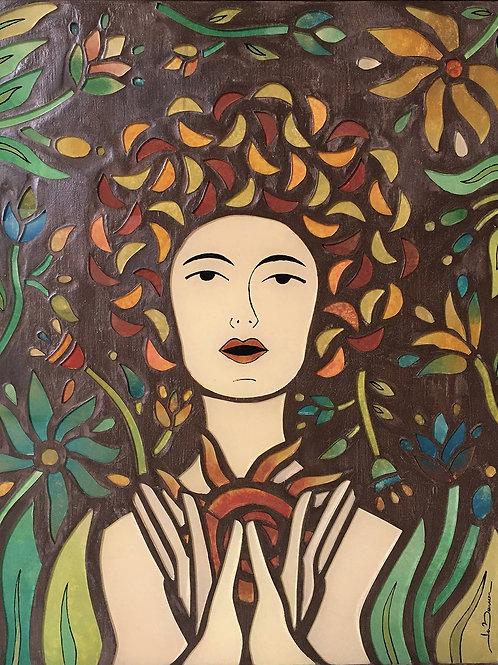 Luz de Padma - 50 x 40cm -  por Ju Barros