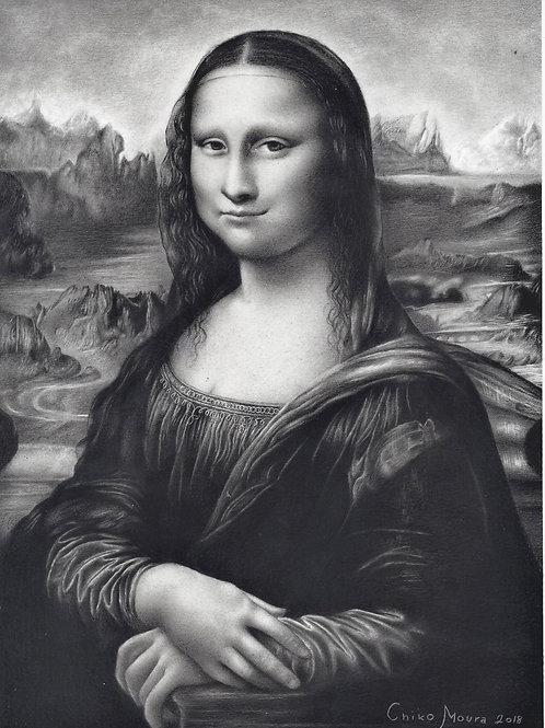 Mona Lisa - A Gioconda- 29, 7 x 21 cm - por Chiko Moura